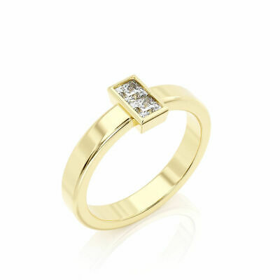 0.4 Carat Contemporary Natural Diamond Solitaire Engagement Ring D-E-F VS