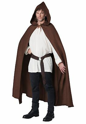 Brown Hooded Cloak for Adults
