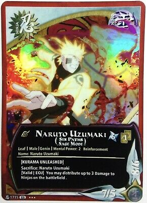 Carte Naruto Custom Collectible Card Game CCG Foil Fancard #56 Set 30 Limited