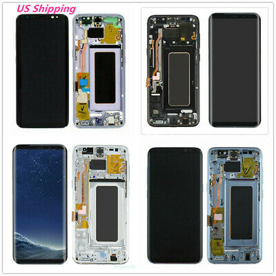 USA For Samsung Galaxy S8 Plus G955 LCD Display Screen Digitizer with Frame (B)