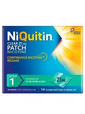 NiQuitin Clear Step 1 (21mg) 14 Clear Patches 2 Week Kit
