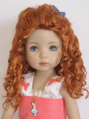 "Mixed brown 18//19cm Doll wig for Little Darling doll 13/"" Dianna Effner-sz7//8/"""