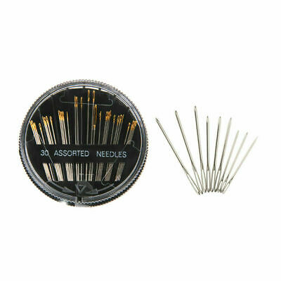30 Self Thread Hand Sewing Needles Assorted Easy Thread Embroidery Mending craft