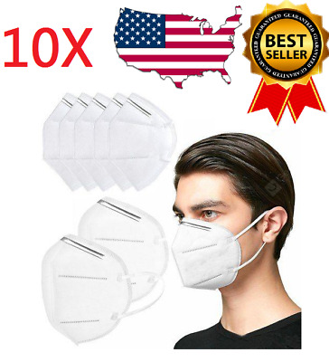 10PC KN95 Face Mask Disposable Mouth Cover Medical Protective Respirator PM2.5