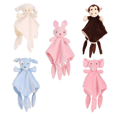 Personalised Baby Comforter Security Blanket Puppy Rabbit Toy Gift Newborn