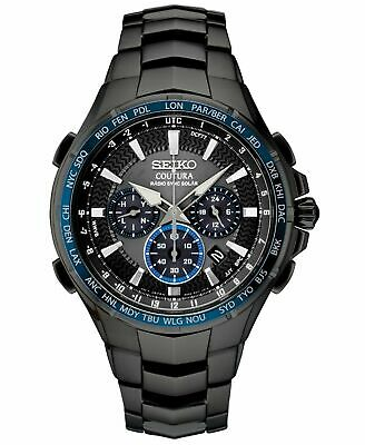 Seiko Men's Solar Coutura Radio Controlled Black PVD Bracelet Watch SSG021