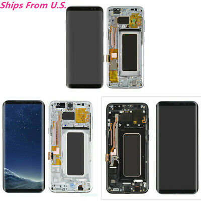 USA For Samsung Galaxy S8 Plus G955 LCD Display Screen Digitizer with Frame (A)