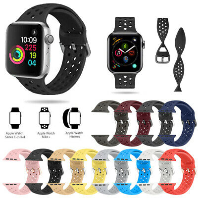 For Apple Watch Series 6/5/4/2/1 Silicone Sport Band Strap iWatch 38/40/42/44mm