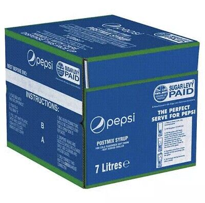 Pepsi Bag in Box Post-Mix Syrup 7lt FRESH STOCK