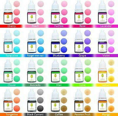 Liquid Dye's - Sets of 10 or 20 - 10ml Bottles - Various Colours