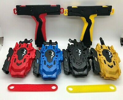 String Power Launcher LR Left Right Spin Double Dual Pull Cord with grip Set