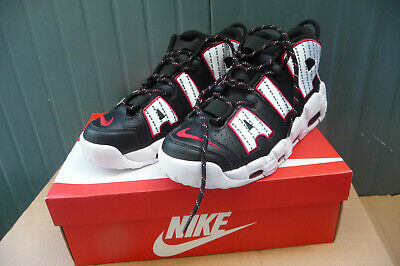 NIKE AIR MORE Uptempo Qs Chicago Red Rosse Scarpe Uomo Black
