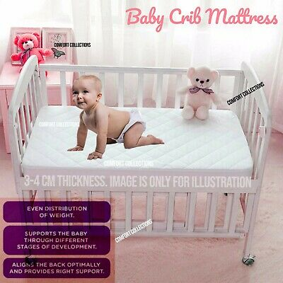 Baby Cot Mattress for Cot Bed / Cribs Nursery Baby Breathable Quilted Cover SALE