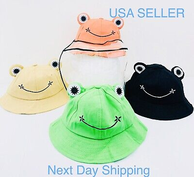 Kids Protective Hat Full Face Shield Fisherman Hat for Children, Safety CoverUSA