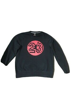 NIKE AIR JORDAN Icon Fleece Crew Neck Jumper Sweatshirt