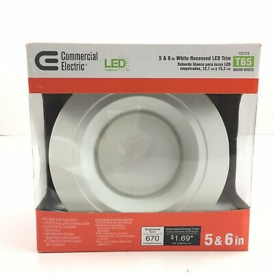 Commercial Electric 4 inch White Recessed Eyeball Trim T18 264 089 Light Fixture