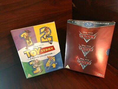 Toy Story 4 Movies + Cars Trilogy Movie Collection (Blu-ray,REGION FREE) NEW