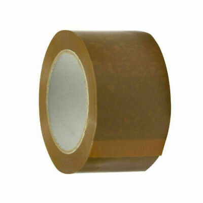 STRONG BROWN PARCEL TAPE CARTON SEALING PACKAGING TAPE 48MM X 66M 6 12 Rolls