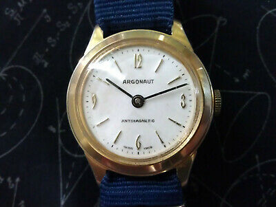 Very Rare Vintage ARGONAUT Antimagnetic Mechanical Men's Swiss Made Wrist Watch
