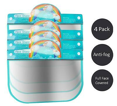Kids Face Shield Protection Cover Guard Reusable Safety Visor Rembow 4 Pack