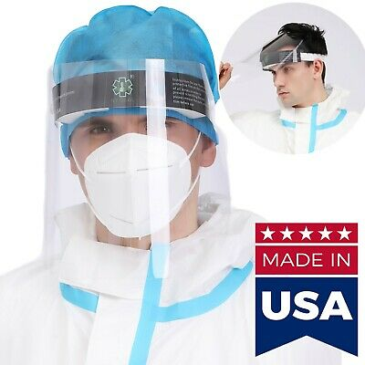 【Made in USA】Face Shield Flip up to Open Reusable, Washable Full Face Mask Cover