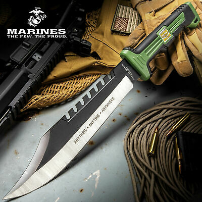 Usmc Recon Bowie Tactical Survival Rambo Fixed Blade Machete Knife K Bar