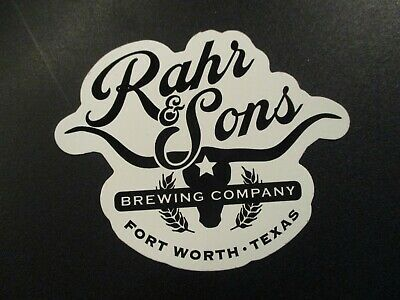 RAHR /& SONS Texas Dadgum IPA Can STICKER label decal craft beer brewing