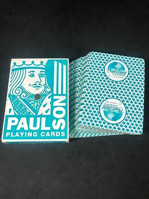 VINTAGE ExCellEnT Complete Set of PAUL /& SON actual Playing Cards wSealed Box from The Hard Rock Cafe. from 90/'s