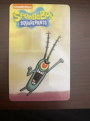Spongebob Dave & Buster's Coin Pusher Single Card (PLANKTON)