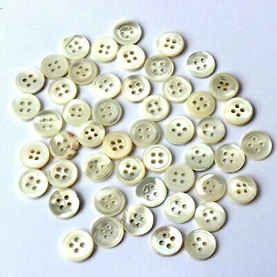 12-15mm Black Shell Mother of Pearl Buttons Sewing Knitting Doll Connector Toys