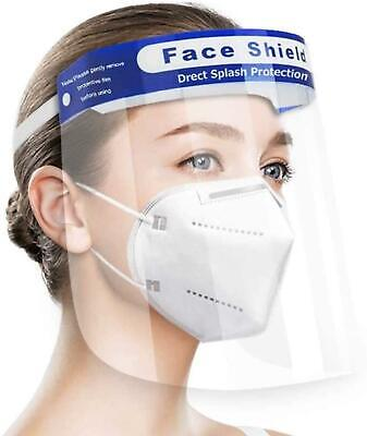 Face Shield Safety Anti-Fog Full Face Protection Reusable Unisex Washable 1 Pc