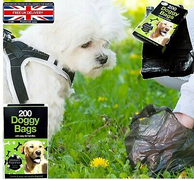 1000 DOGGY BAGS Scented Dog Cat Puppy Poo Waste Easy Tie Scooper Poop Disposal
