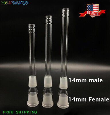 14MM Female To 14MM Male Glass Scientific Downstem Adapters Low Profile