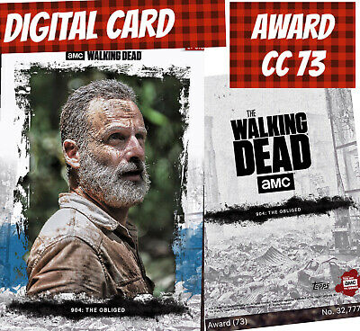 Topps Card Trader Twd The Walking Dead Amc Rick Grimes Award 2018 The Obliged