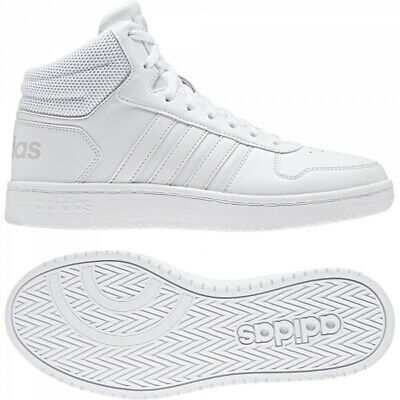 CHAUSSURES HOMME ADIDAS HOOPS VS BB7208 BLANC BASKET MID 2.0
