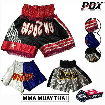 Maxx Muay Thai Fight Shorts MMA Kick Boxing Grappling Martial Arts Gear Men wyb