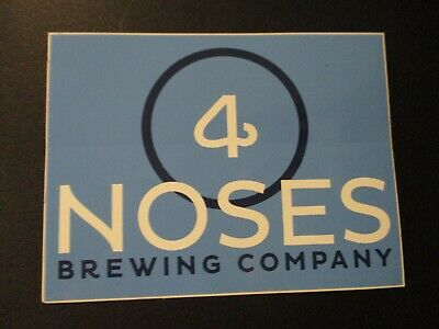 FOUR 4 NOSES BREWING Colorado bout time blue STICKER decal craft beer brewery