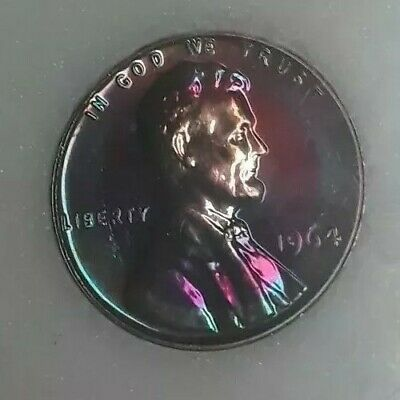 1964 Rainbow Toned Proof Lincoln Memorial Cent One-of-a-Kind For Your Collection