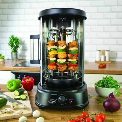 Vertical Rotating Kebab Rotisserie Grill Electric Kitchen Home Chicken Skewer