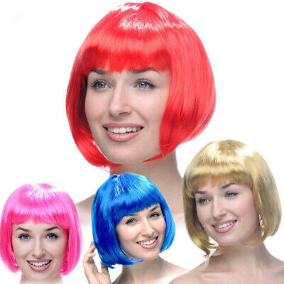 Womens Ladies Short Bob Wig Fancy Dress Cosplay Wigs Party Costume