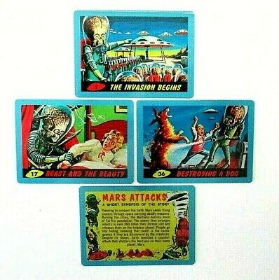 Mars Attacks Occupation *Blue Metal Card Singles 1962 Images *Pick Your Numbers*