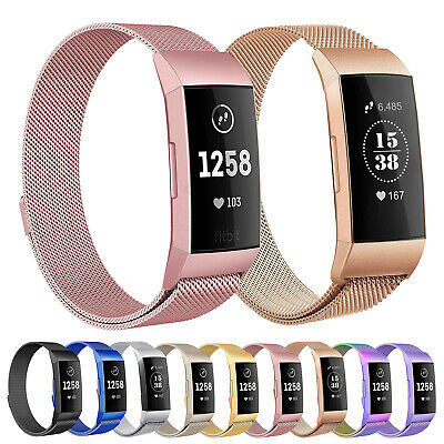 For Fitbit Charge 3/4 SE Milanese Magnetic Watch Band Strap Bracelet Replacement