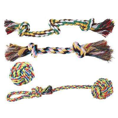 Pet Toy Cotton Rope Gnawing Toy Chew Knot Durable Braided Bone Rope