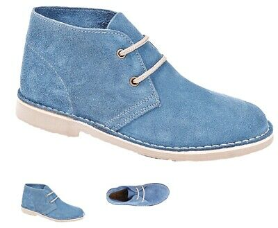 Roamers Womens//Ladies Real Suede Unlined Fashion Desert Ankle Boots DF209