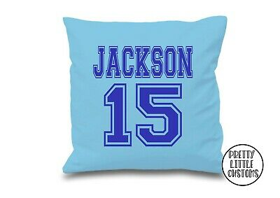 Personalised your name and number football cushion cover boys girls Christmas