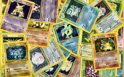 Pokemon cards WOTC Base Set Mystery booster pack includes holos and rares