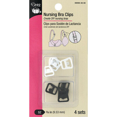 """Dritz Maternity Bra Clips 3/8"""" 4/Sets-For 3/8"""" Wide Straps"""