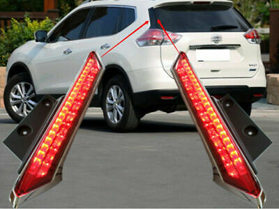 REAR WINDOW RED LED TAIL BRAKE LIGHT LAMP FOR 2014-2016 ROGUE//X-TRAIL SPORT PAIR