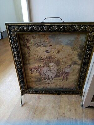 Tapestry With Metal Surround Fire Guard