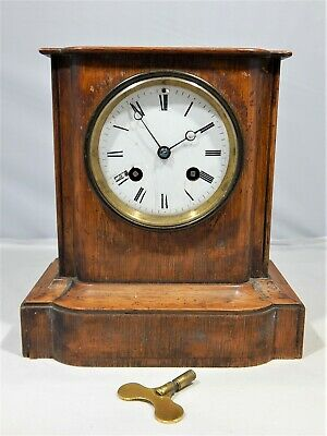 Antique French Japy Freres Striking Mantel Clock 1881